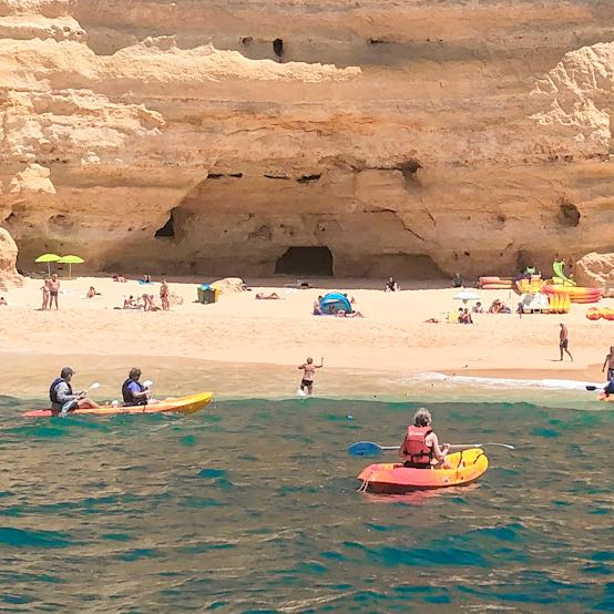 Kayaking along the Carvoeiro beaches