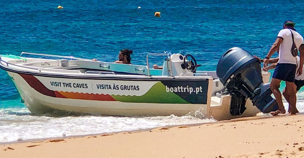 Boat tour to the Carvoeiro caves, make sure to make an advance booking in peak summer season