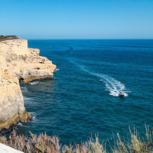 The Carvoeiro caves are a very popular Algarve tourist attraction