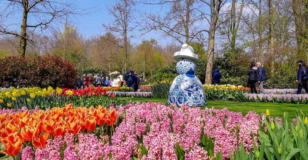 Keukenhof Gardens are the largest flower gardens in the world