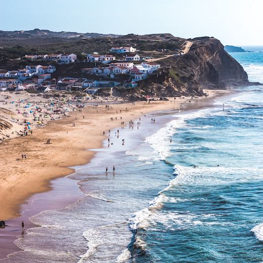 Monte Clerigo beach at Portugal south coast