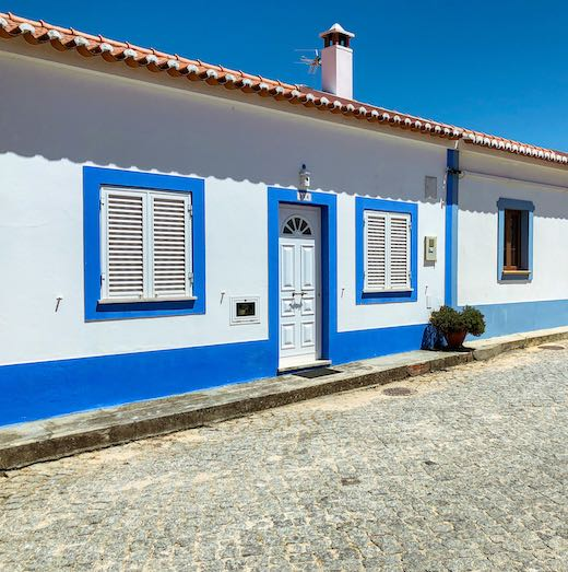 White-washed houses in the towns along the Portugal Costa Vicentina