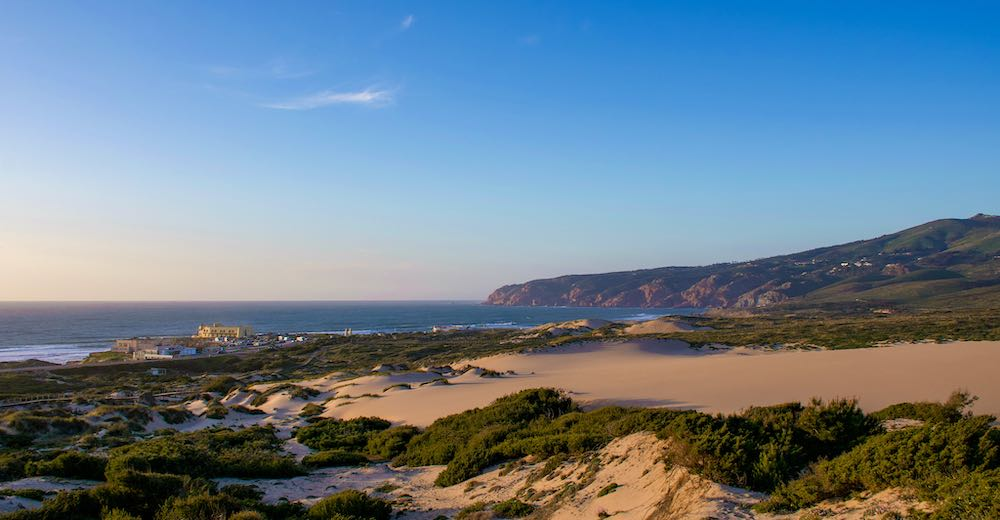 The Cascais beach Praia do Guincho is one of the best Lisbon beaches for surfing