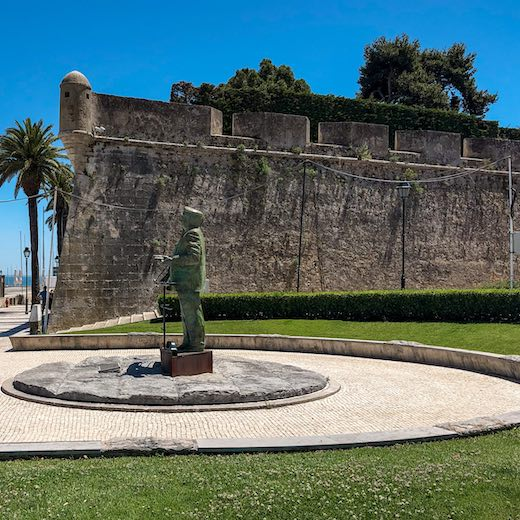 The Nossa Senhora da Luz Fort at the harbour is one of the most scenic things to see in Cascais Portugal