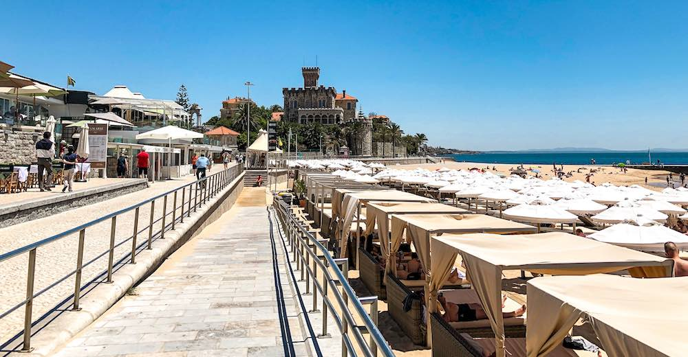 Walking the promenade from Cascais to Estoril is one of the things to do in Cascais Portugal