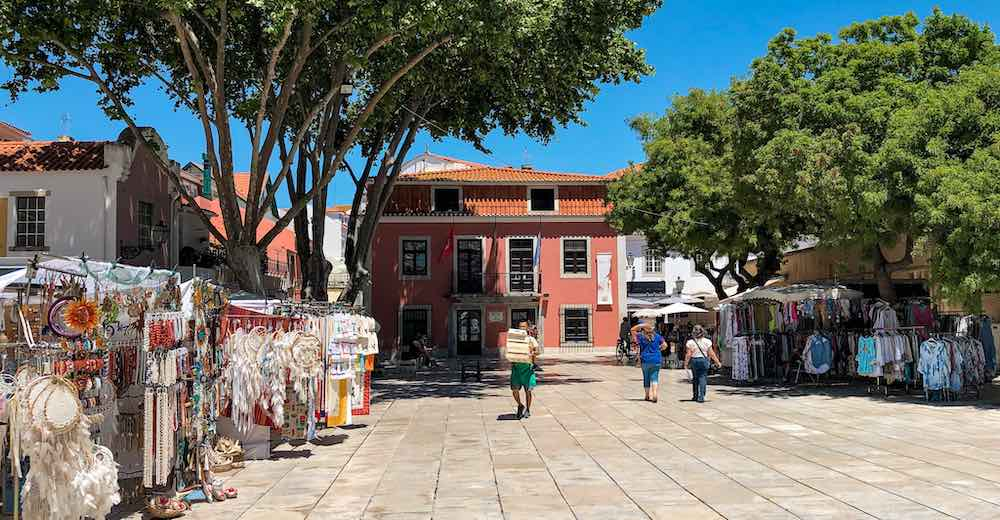 Shopping for souvenirs at the market place is one of our favorite Cascais things to do