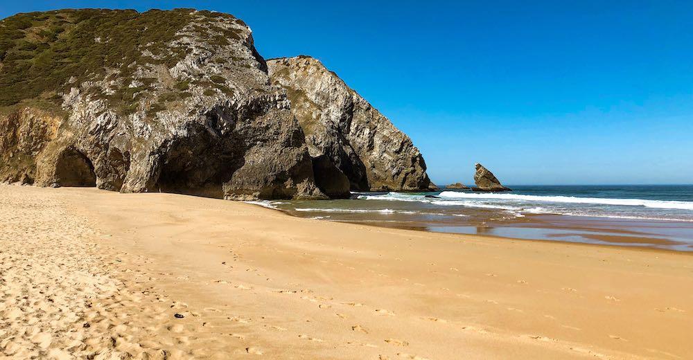 Praia da Adraga is one of the best beaches near Cascais