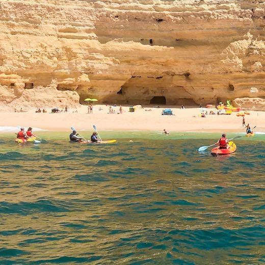 Kayak tour to the Benagil Portugal sea cave