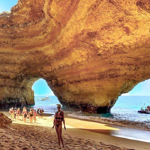 Me standing in the Algar de Benagil Portugal