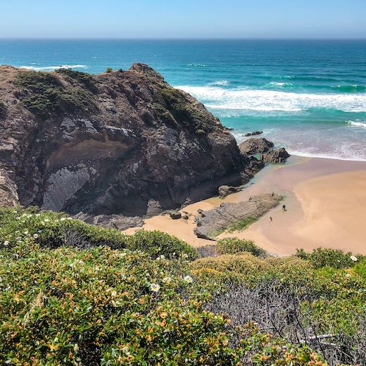 Odeceixe beach at the Portuguese Costa Vicentina