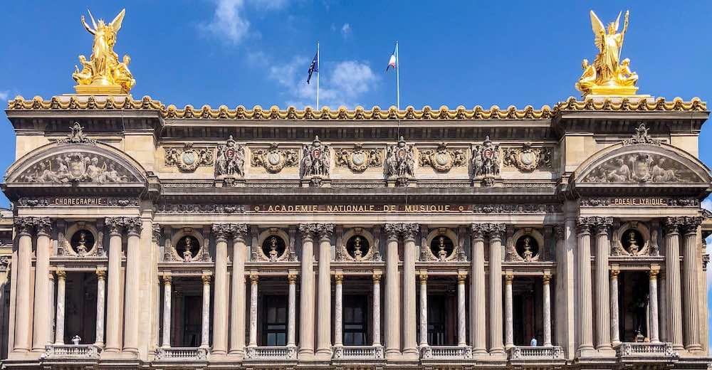 Facade of the Garnier Opera Theatre in Paris