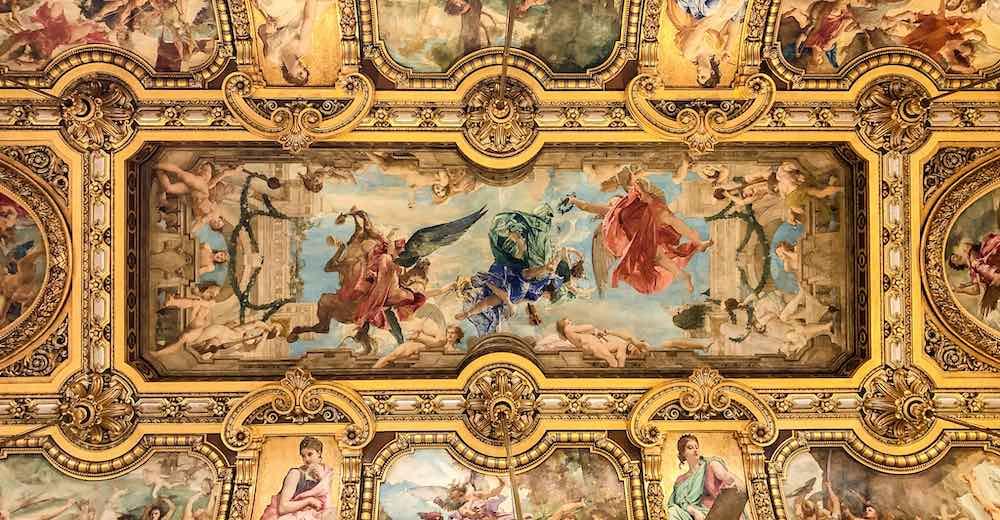 Central mural in the Grand Foyer of the Opera Paris Garnier