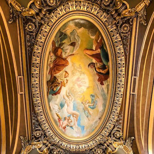 Mural in the Garnier Paris Opera House