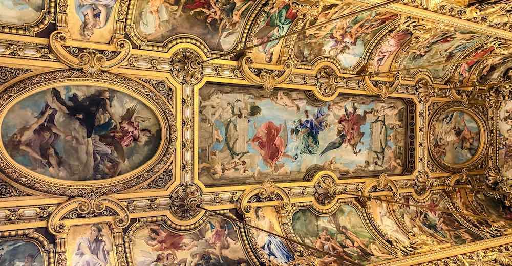Ceiling of the Grand Foyer in Palais Garnier