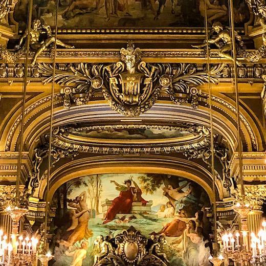 Mural in the Palais Garnier Grand Foyer