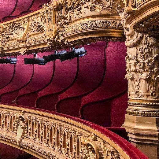 Auditorium of the Palais Garnier Phantom of the Opera inspiration