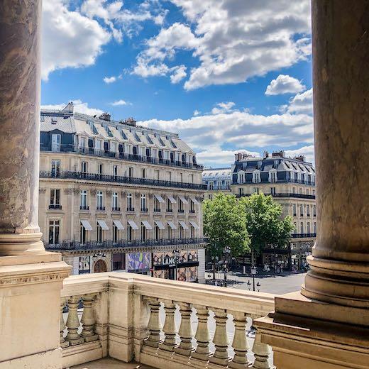 Outside corridor near the Grand Foyer in the Palais Garnier Opera House of Paris