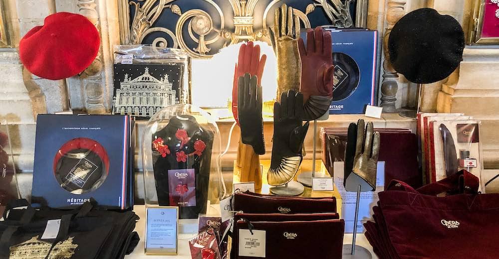 Souvenirs at the boutique of the Paris Opera House Palais Garnier