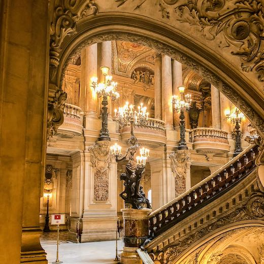 Staircase in the Opera Garnier Paris