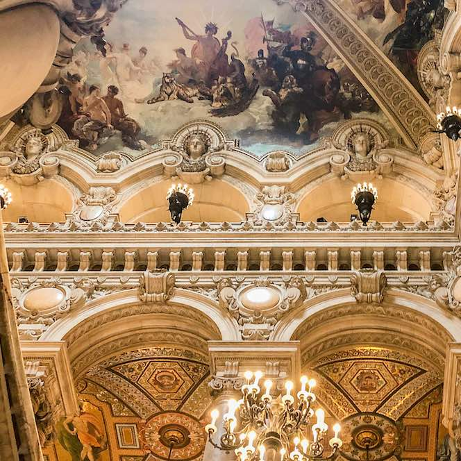 Mural above the Grand Staircase in the most iconic Opera House Paris