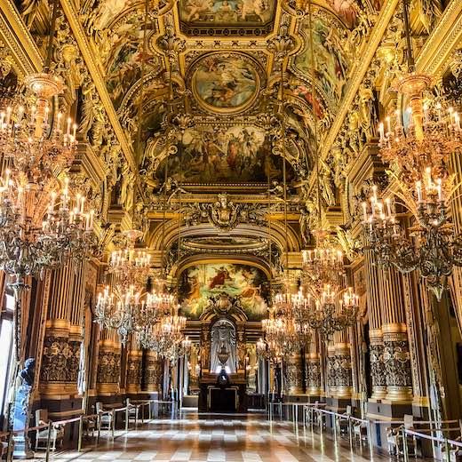 Grand Foyer in the spectacular Opera de Paris