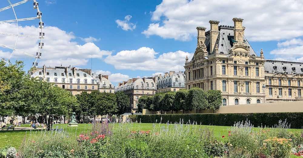 Louvre and Tuileries Gardens in Paris
