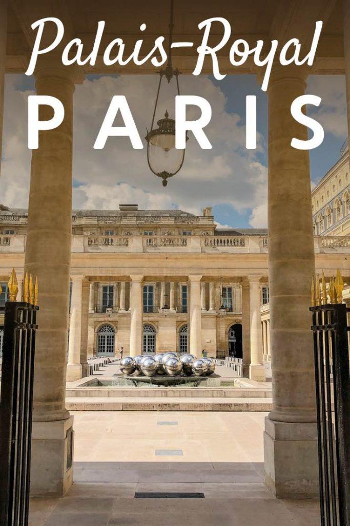 Arcade and fountain in the Palais-Royal Paris