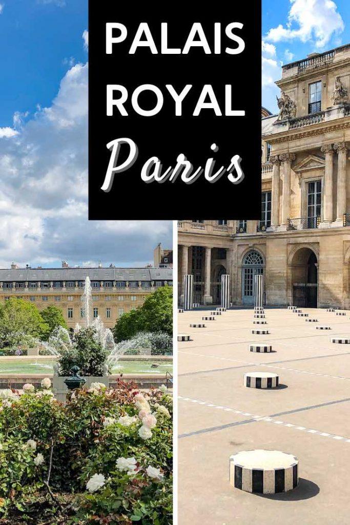 Paris Palais Royal fountain and art installation
