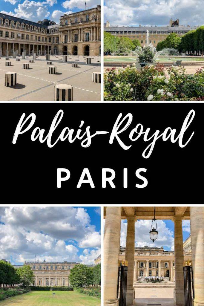 Courtyard and garden of the Palais Royal in Paris