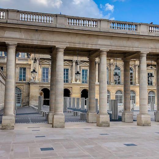 Courtyards at the Palais-Royal in Paris