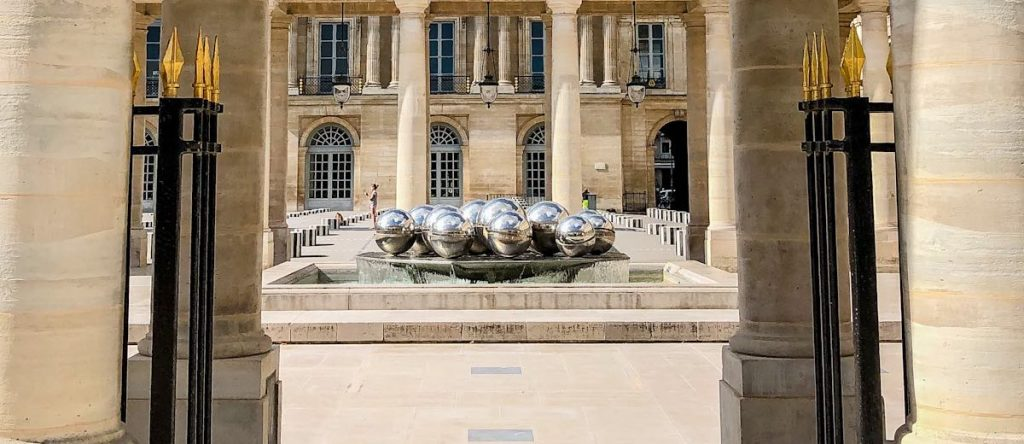 Sphérades fountain in the courtyard of the Palais Royal in Paris