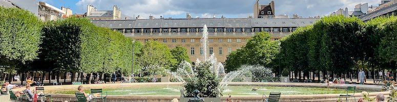 The Palais Royal in Paris and its glorious garden