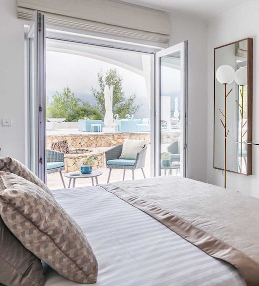 The saltwater pool and spacious outdoor patio make this one of the top holiday villas Portugal