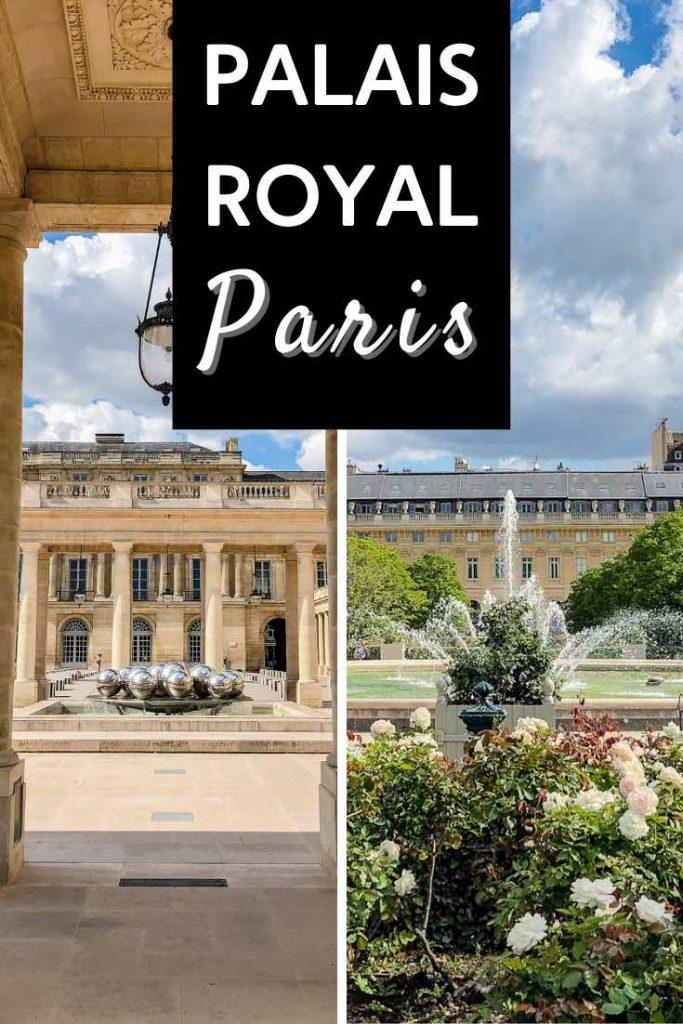Fountains in Palais Royal Paris