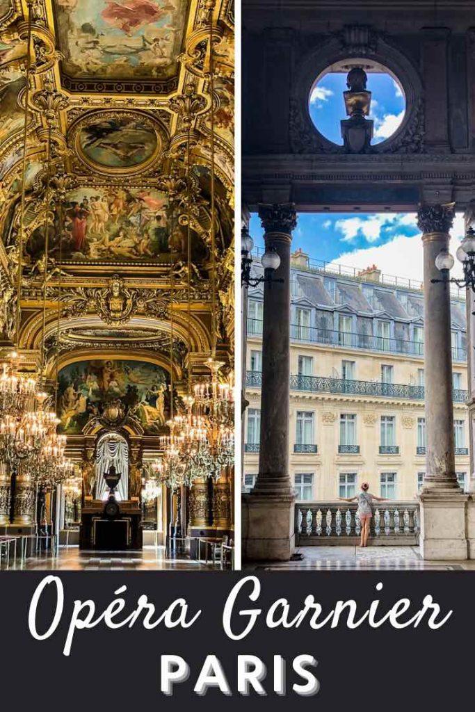 Opulent room and elegant balcony of the Paris Opera House
