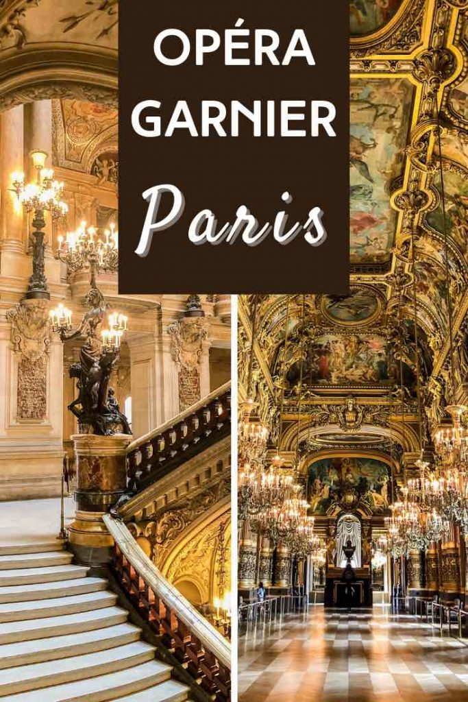 Grand Staircase and Grand Foyer in the Garnier Opera House in Paris