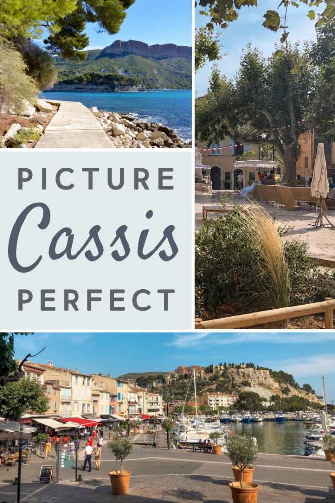 Coastline, harbor and market views of Cassis in France