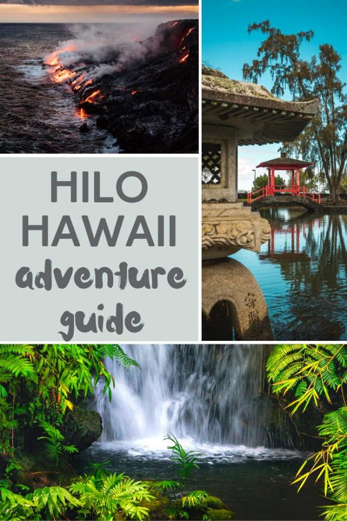 Hilo attractions include volcanoes, waterfall and tropical parks
