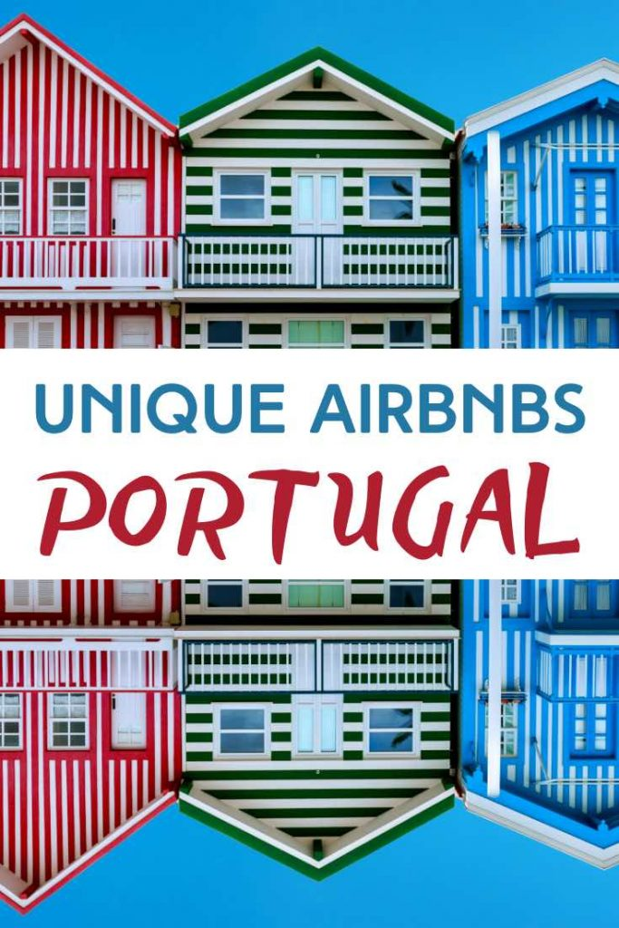 Some of the colorful houses of Costa Nova are available as house rentals in Portugal