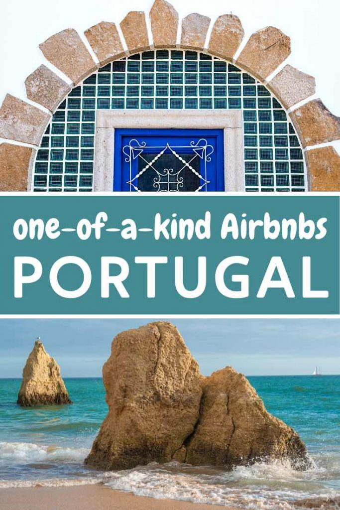 Azulejo tile details of a Portugal Airbnb near a gorgeous Algarve beach