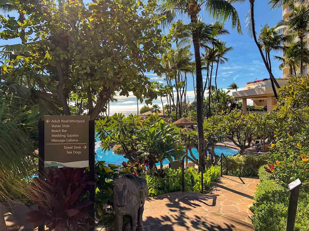 One of the Maui resorts in Kaanapali