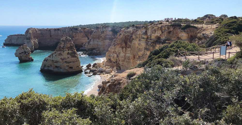 Hiking the Seven Hanging Valleys trail is what to do in Lagos Portugal for active travelers