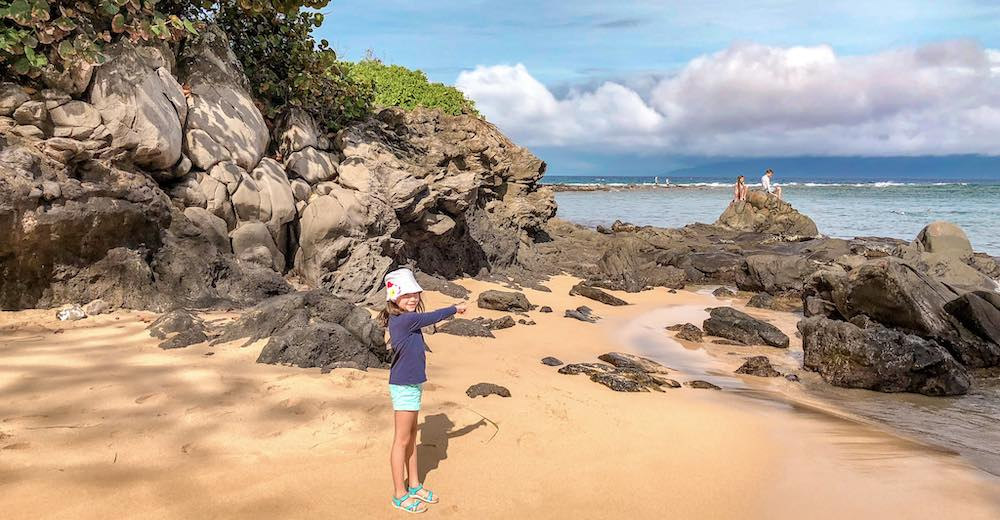 Little girl at Kapalua Beach on Maui