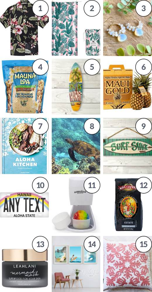 Hawaii product guide featuring some of the best Hawaiian gifts online
