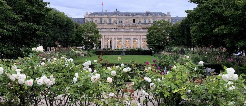 Domaine National du Palais-Royal gardens which was once the home of Louis XIII and Louis XIV