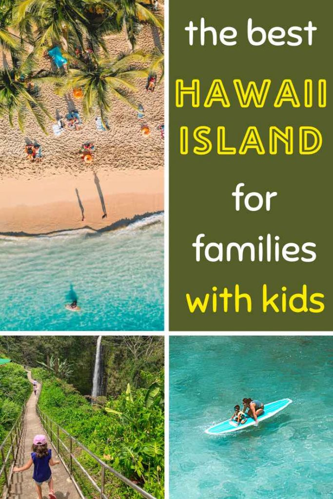 Exploring the Hawaiian islands with kids, surfing, hiking a volcano, exploring a beach and chasing a waterfall