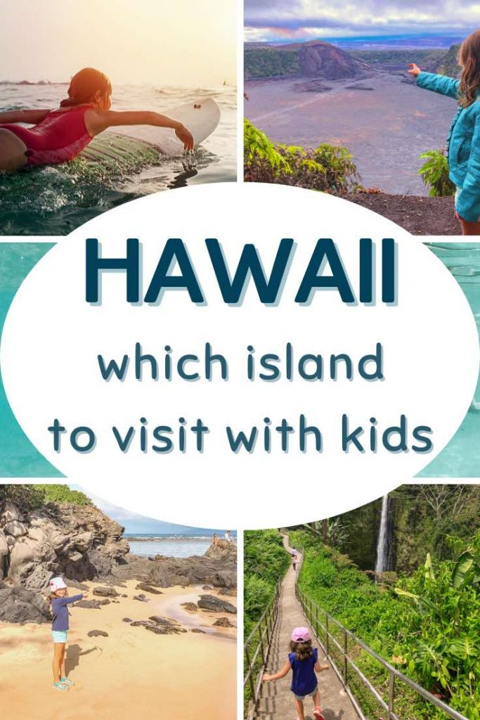 Hawaii family vacation at the beach, near a waterfall and in the ocean