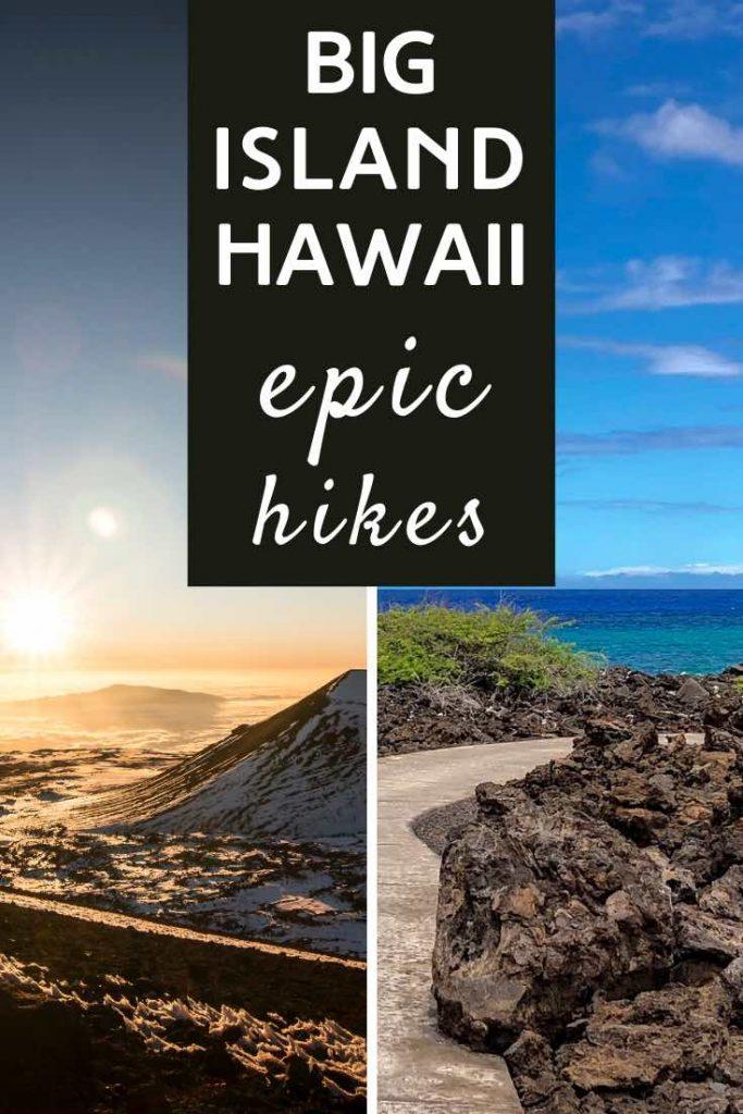 Sunrise over the Mauna Kea and a scenic beach walk on Big Island Hawaii