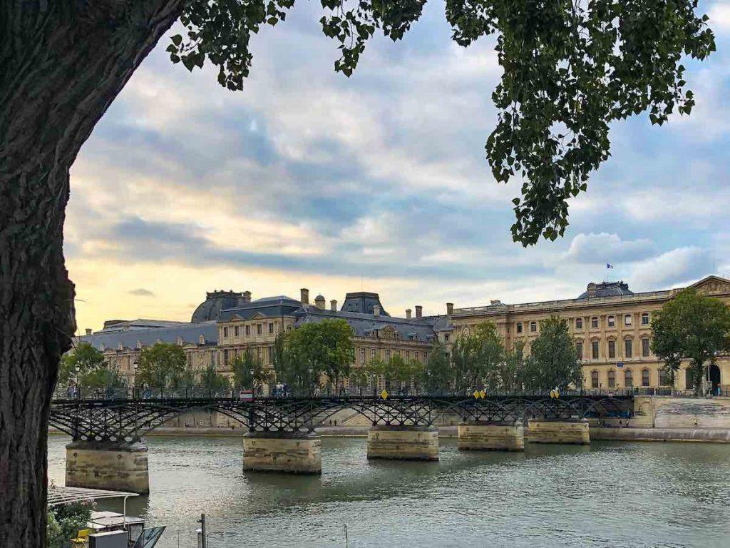 Former love lock bridge Paris