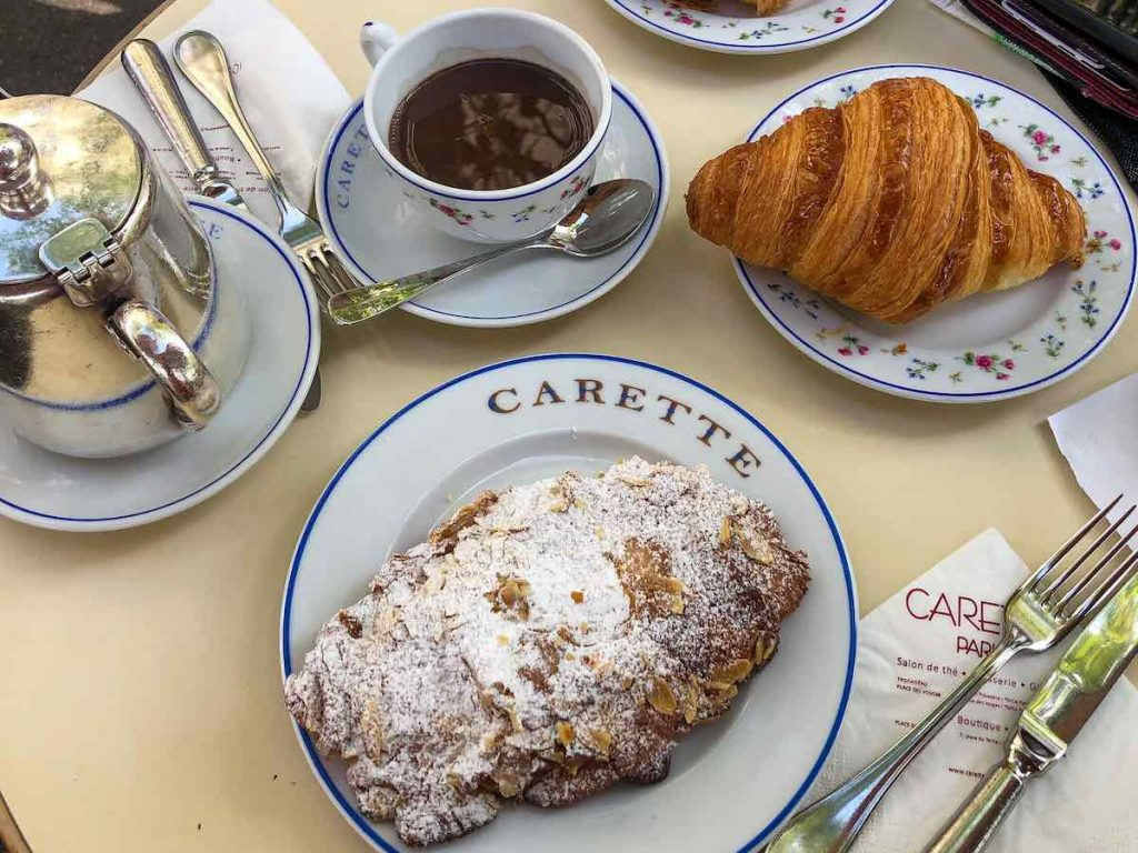 In the top 10 most popular foods in Paris are croissants and other Parisian pastries